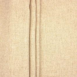 Tissu double face aspect lin beige clair