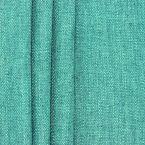 Tweezijdig stof met linnen aspect - eendblauw