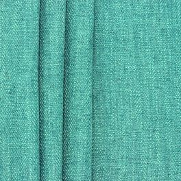 Double-sided fabric with linen aspect - teal