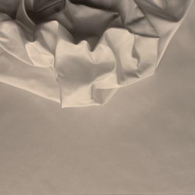 Taffetas de soie uni pierre