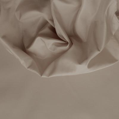 Taffetas de soie uni beige