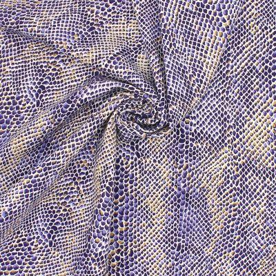 Tissu en coton imprimé serpent