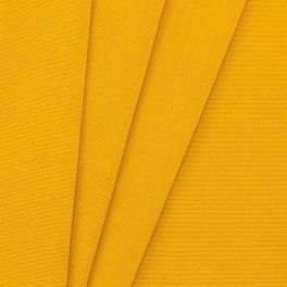 Outdoor fabric in dralon - plain mustard yellow
