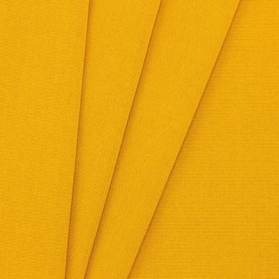 Buitenstof in dralon - effen mosterdgeel