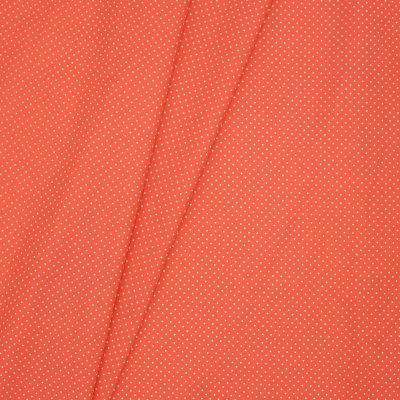 Coated cotton with dots - coral background