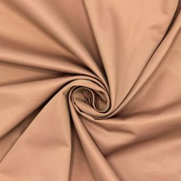 Satin lourd beige rosé envers rose