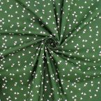 Cotton with triangles - green background