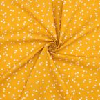 Cotton with triangles - mustard yellow background