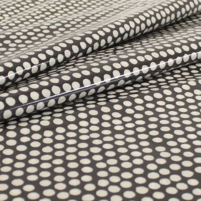 Coated cotton with dots - black