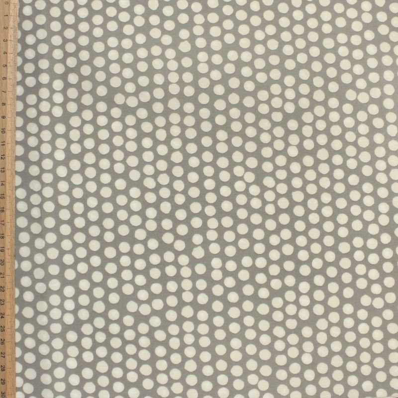 Coated cotton with dots - grey