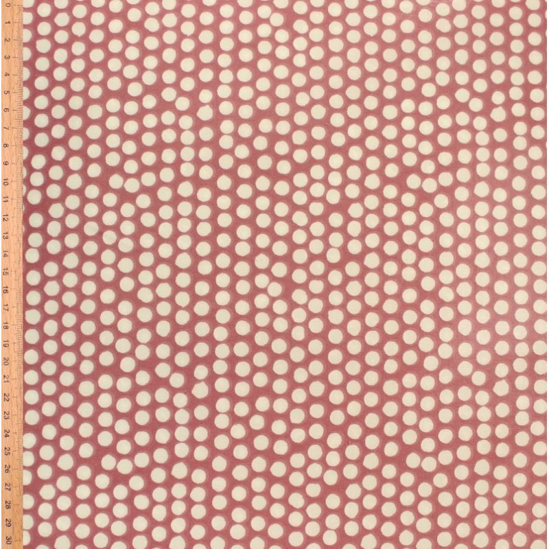 Coated cotton with dots - blush pink