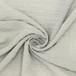 Tissu aspect crêpe grège