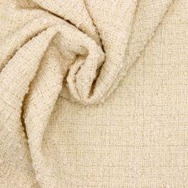 Tissu vestimentaire crème fil fantaisie