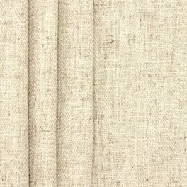 Double-sided fabric with linen aspect - ecru