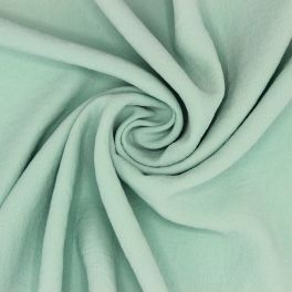 Fabric with crêpe aspect - sea green
