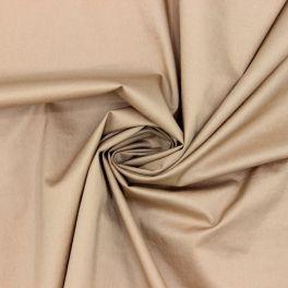 Satin de coton extensible beige