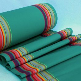 Striped deckchair cloth in dralon - multicolored