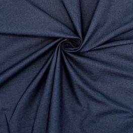 Extensible fabric with marbled aspect - navy blue
