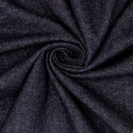 Stof met geborsteld jeans aspect - blauw