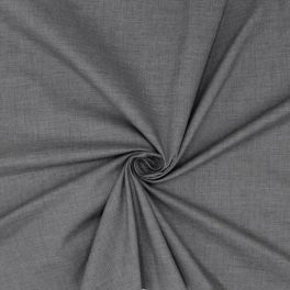 Tissu 100% polyester gris chiné