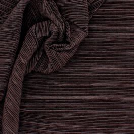 Pleated knit fabric - brown