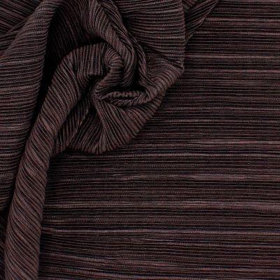 Maille plissée brune