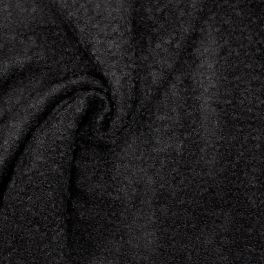 Fabric in wool and mohair - black