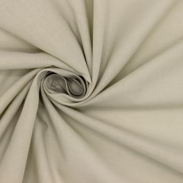 Tissu en coton aspect voile beige