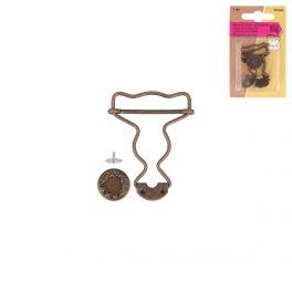 Boucles pour salopettes bronze