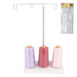 Double cone thread holder