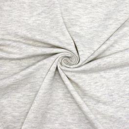 Light sweatshirt fabric - mottled ecru