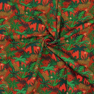 French terry sweatshirt fabric with digital printing