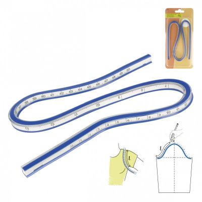 Flexible curved ruler