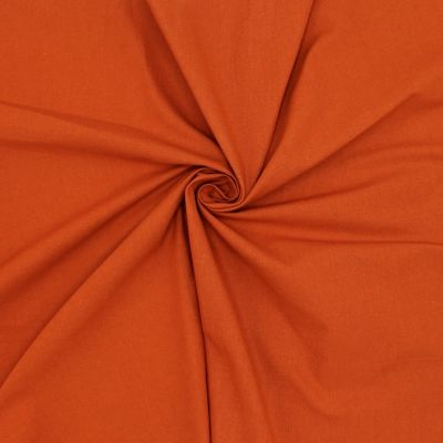 Cretonne fabric - plain rust