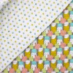 Quilted double-sided printed fabric