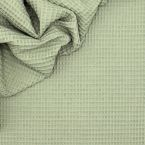 Piqué cotton with honeycomb pattern - khaki