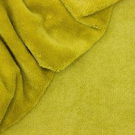 Tissu éponge bambou  vert anis