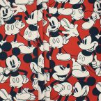 Upholstery fabric in cotton printed with Mickey
