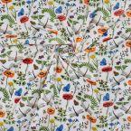 Tissu 100% coton imprimé fleur et insecte