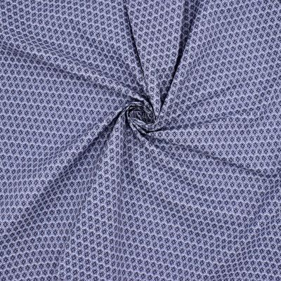 Cotton with pattern - blue