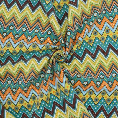 Cotton with multicolored pattern