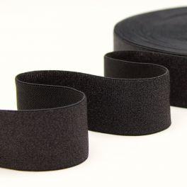 Metallic elastic strap - black