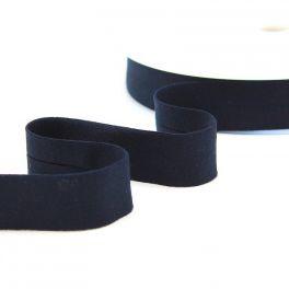 Rekbaar jersey biaisband - donkerblauw