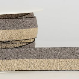 Bicolored elastic - grey and gold