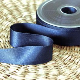 Satin ribbon - navy blue