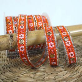 Iron-on braid trim - orange