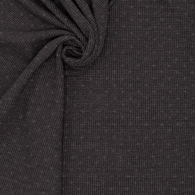 Double-sided jersey fabric - grey and blue