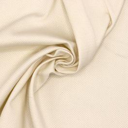 Piqué de coton extensible ivoire