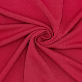 Extensible fabric crêpe type - blood red