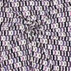 Printed polyester fabric type crêpe